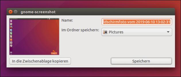 Ubuntu Screenshot Tastenkombination