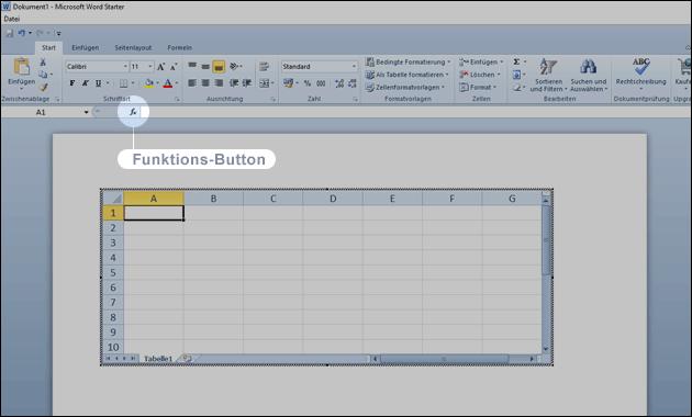 Word Excel Tabelle einfügen