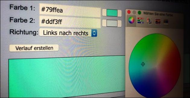 CSS Farbverlauf Generator: Farbverlauf online erstellen