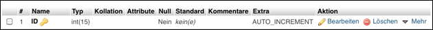 PHPMyAdmin: Auto Increment