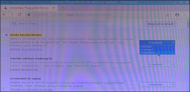 Chromium session restore