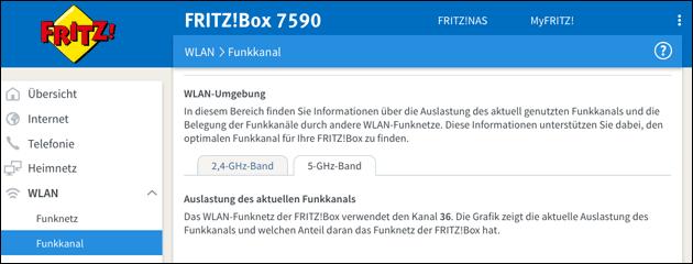 Fritzbox: 5 GHz WLAN