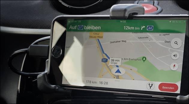 Google Maps als Navi