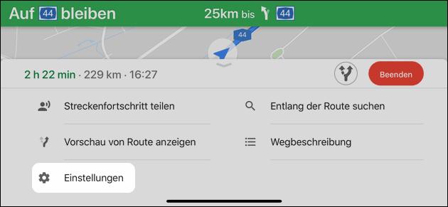 Maps Sprachausgabe
