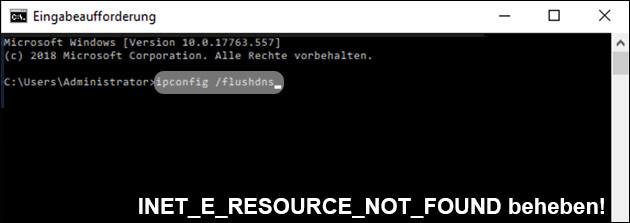 INET_E_RESOURCE_NOT_FOUND Lösung