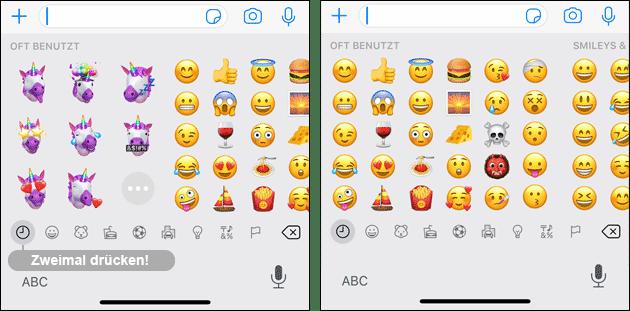 Apple Memoji ausschalten