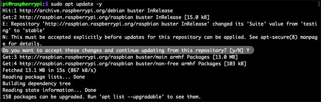 Raspbian Buster Update