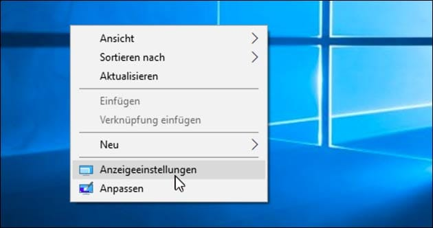 Windows Anzeige-Einstellungen