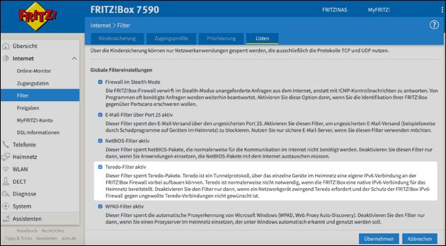 Fritzbox Internet über VPN
