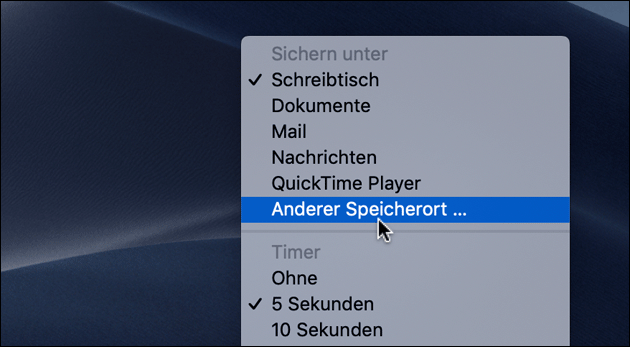 Mac Screenshot Speicherort