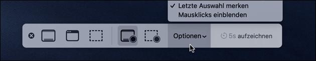 Mac Screenshot Einstellungen
