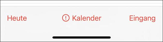 iPhone Kalender: Serveridentität Fehler