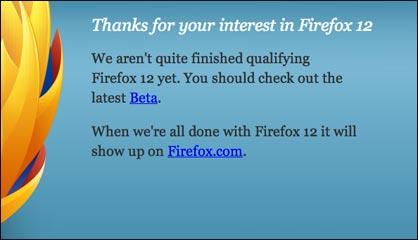 Firefox 12 Beta