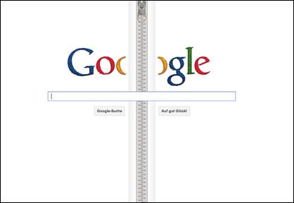 Google Reissverschluss