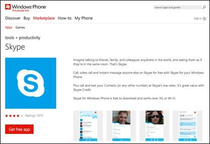 Skype für Windows Phone