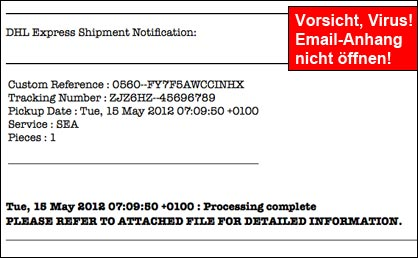 DHL notification Virus