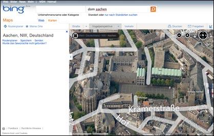 Bing: 3D Karte