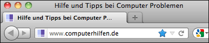 Firefox URL Leiste