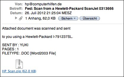HP Scanjet Virus