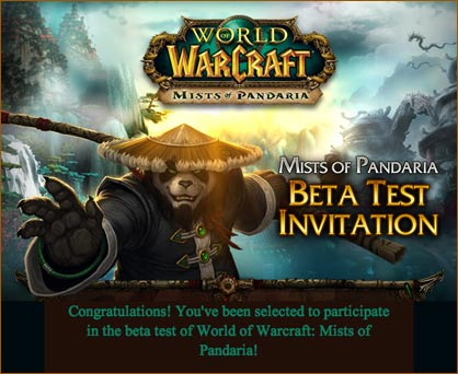 WoW Beta Test: Mists of Pandaria