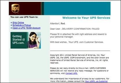UPS Virus