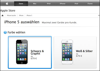 iPhone 5 im Apple Store