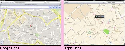 Maps Vergleich