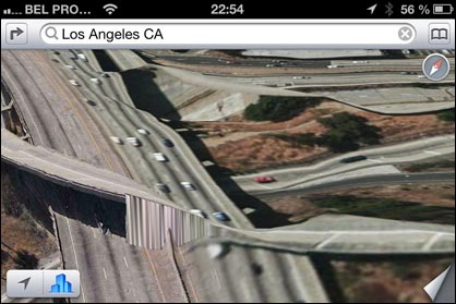 iOS 6: Apple Maps Los Angeles