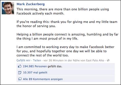 1 Milliarde User