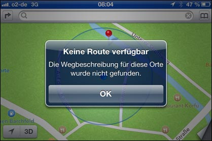 apple maps erstes update f r ios 6 karten programm. Black Bedroom Furniture Sets. Home Design Ideas