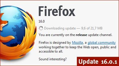 Update: Firefox 16.0.1