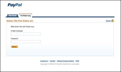 Paypal Adresse Prüfen