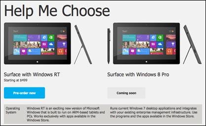 Surface mit Windows RT