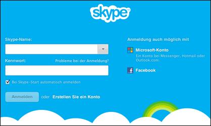 Komm zusammen auf Skype