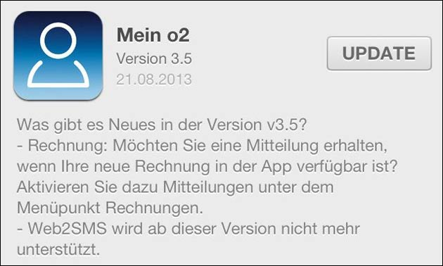 Mein o2 iPhone App