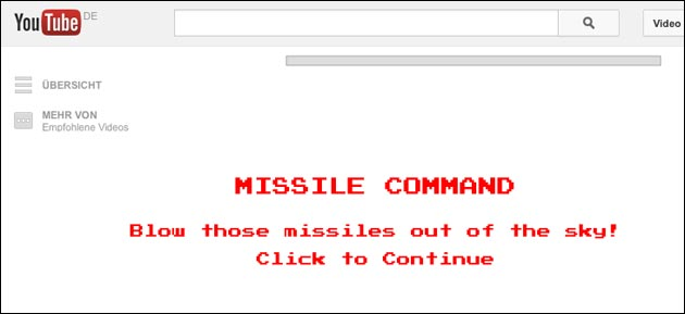 YouTube: Missile Command