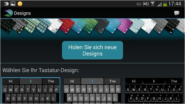 SwiftKey Tastatur-Design Auswahl