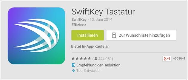 swiftkey kostenlos tastatur app f r android jetzt gratis. Black Bedroom Furniture Sets. Home Design Ideas