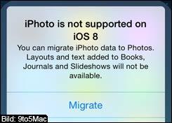 iOS 8: Kein iPhoto mehr