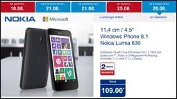 n chste woche bei aldi nokia lumia 630 das 109 eur. Black Bedroom Furniture Sets. Home Design Ideas