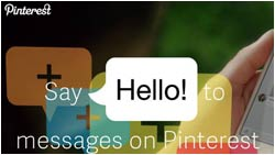 Pinterest Messaging Funktion