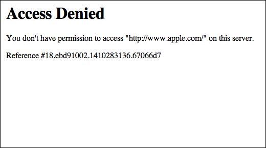 Apple Access denied