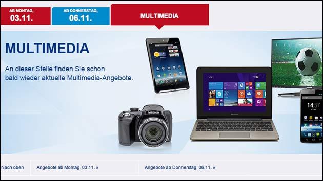 Aldi Nord: Multimedia ausverkauft?