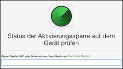 iPhone Aktivierungssperre prüfen und aufheben