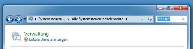 Systemsteuerung: Dienste