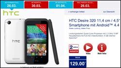 HTC Desire und LG 80: 2 Handy-Schnäppchen bei Aldi
