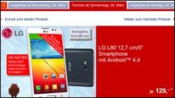 Handy-Schnäppchen bei Aldi: LG 80 und HTC Desire