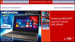 Jetzt bei Aldi: Notebook Medion Akoya E6416