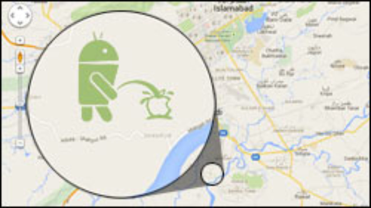 Update Google Loscht Maps Easter Egg Mit Pinkelndem Android Roboter