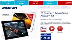 Tablet-Schnäppchen bei Aldi: Medion LifeTab S10346
